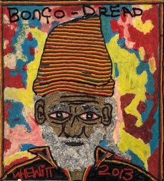 """Images of portraits created with wood by self-taught Caribbean artist Carl """"Woolly"""" Hewitt Folk Art, Caribbean, Self, Teaching, Portrait, Artist, Painting, Image, Popular Art"""