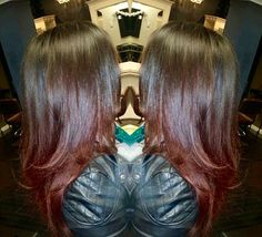 Ravishing reds! Check in this soft ombré ! Davines hair color. Flamboyage. Redken. Cabelocutie