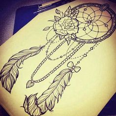 Beautiful dream catcher tattoo idea