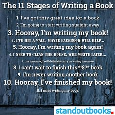 The 11 stages of writing a book Stages Of Writing, Writing Genres, Writing Quotes, Writing Advice, Writing A Book, Writing Prompts, Writer Humor, Writing Studio, Haha So True