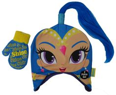 Disney Shimmer and Shine ponytail Hat and Mitten Set - Toddler [4013] -- Awesome products selected by Anna Churchill