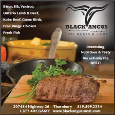 Black Angus Fine Meats & Game (Mississauga) Kobe Beef, Game Birds, Free Range, Venison, Superfood, Real Food Recipes, The Best, Lamb, Toronto