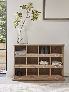 Low Wooden Box Unit - Boot Racks & Welly Racks - Boot Room - Home Storage Solutions Outdoor Shoe Storage, Hallway Shoe Storage, Shoe Storage Unit, Wooden Shoe Storage, Shoe Storage Solutions, Bedroom Storage, Storage Ideas, Storage Racks, Porch Storage
