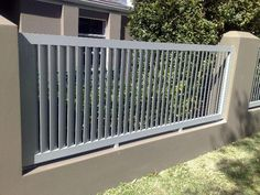 Fence Design Ideas - Photos of Fences. Browse Photos from Australian Designers & Trade Professionals, Create an Inspiration Board to save your favourite images. Door Gate, Fence Gate, Fences, Fence Wall Design, Fence Design, Compound Wall, Outdoor Walls, Outdoor Decor, Fence Screening