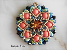 Beaded Pendant Tutorial Beading Pattern Meekyoung Pendant