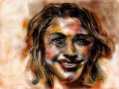 Portret van Mira, geschilderd op mijn iPad #Paper