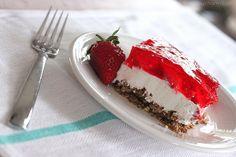 strawberry jello pretzel salad via inspiredbycharm.com... My favorite dessert! My mom makes it for me almost every birthday!