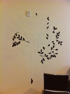 DIY Painted Trees for Bedroom or Living Room Walls