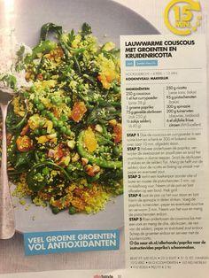Couscous met kruidenricotta en groenten