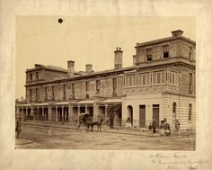 Brunswick Street, with Dr. William Crookes surgery on the corner of Brunswick and Gertrude Streets, Fitzroy West Melbourne, Melbourne Suburbs, Melbourne Victoria, Australia Day, Victoria Australia, Melbourne Australia, Brunswick Street, Historic Homes, Old Photos