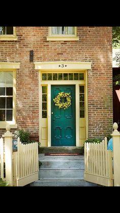 Brick house green door