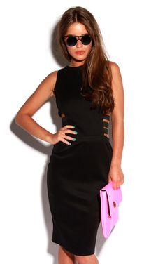 Gia Waist Strap Bodycon Midi Dress