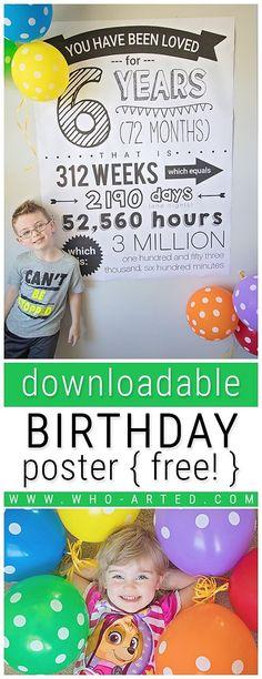 c8e4ef44771dd 29 Best DIY Birthday Poster images in 2015 | Birthday, Birthday ...