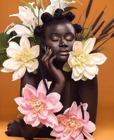 Mar 9 2020 - Afrofuturism Tribal Photos and interrupted Black Identity beauty photoshoot Afrofuturism and Interru. Black Girl Aesthetic, My Black Is Beautiful, Grafik Design, Black Girl Magic, Black Girls, Black Art, Black Pantha, Dark Skin, Female Art