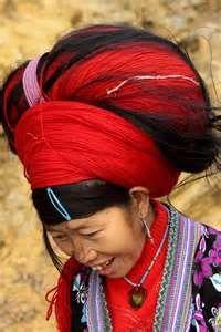 vietnam ethnic minorities headdress of a red hmong woman the hmong ...