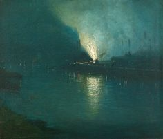 Aaron Harry Gorson, Steel mills, nocturne, Pittsburgh (Late 19th century)