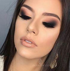 Best Makeup Ideas For Laying Mascara And Eyeliner Glam Makeup, Skin Makeup, Eyeshadow Makeup, Bridal Makeup, Wedding Makeup, Beauty Makeup, Black Hair Makeup, Nyx Lipstick, Drugstore Beauty