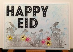 Happy Eid Handmade Greeting Card awesome Etsy listing at https://www.etsy.com/listing/195341653/eid-card-happy-eid-handmade-greeting