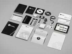 Corporate and Brand Identity Mock-Up Kit by creartdesign. #branding #identity #mockup