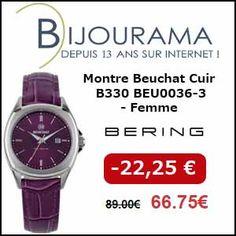 #missbonreduction; Réduction de 22,25 € sur la Montre Beuchat Cuir B330 BEU0036-3 - Femme chez Bijourama. http://www.miss-bon-reduction.fr//details-bon-reduction-Bijourama-i851979-c1834683.html