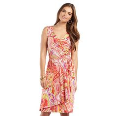 2fed0194241 Chaps Paisley Surplice Faux-Wrap Dress. Kohls DressesFaux Wrap DressPlus  Size ...