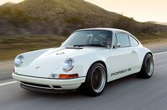Singer 911 No. 3 in white – Click above for high-res image gallery To the untrained eye, a new Porsche 911 might look pretty much the same as an Singer Porsche, Porsche 911, Auto Motor Sport, Sport Cars, Custom Porsche, Singer Vehicle Design, Bentley Rolls Royce, Best New Cars, Cars
