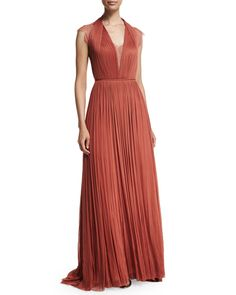 Catherine Deane Silk Tulle Gown with Lace, Sunset