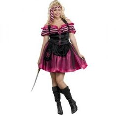 Pink Pirate Dancer Plus Size Costume - womensplussizecostumes.org