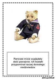 Dzień Pluszowego Misia - gigantyczna porcja materiałów - Pani Monia Brown Bear, Teddy Bear, Education, Toys, Children, School, Animals, Celebration, Autumn