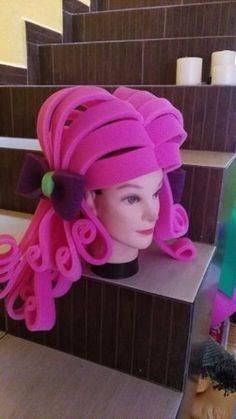 New foam from FollyFoam! Just perfect! Hat Crafts, Diy And Crafts, Foam Wigs, Mannequin Art, Steampunk Hat, Crazy Hats, Living Dolls, Ideas Para Fiestas, Costume Shop