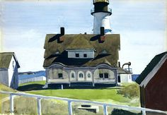 bofransson:  Captain Strout's House, Portland Head, 1927 Edward Hopper