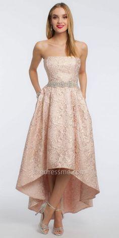 Camille La Vie Sweetheart Lace Hi-Low Dress