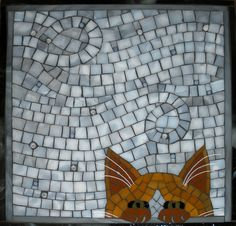 Please, Can I Come In? Mosaic Cat