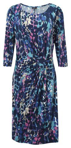 Damart Mock Wrap Dress, product code W331. www.damart.co.uk