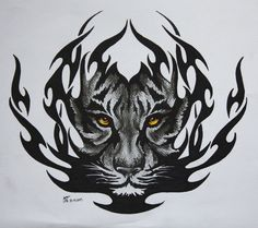 Tiger tribal design.