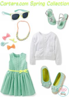 I love @Carter White's Babies and Kids! They have super stylish cloths for your little ones this spring!I love this outfit, reminds me of Easter! #CartersSpringStyle