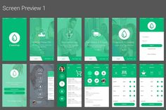 Simplify Laundry App UI Kit ~ UI Kits and Libraries ~ Creative Market Desing App, Android App Design, Ios App Design, Mobile Web Design, Ui Kit, Laundry App, Forest App, Mobile Ui Patterns, Design Thinking Process