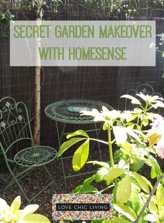 A Garden Makeover Challenge with HomeSense