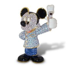 Disney Parks Mickey Mouse Dentist Jeweled Figurine by Arribas Brothers New with Box
