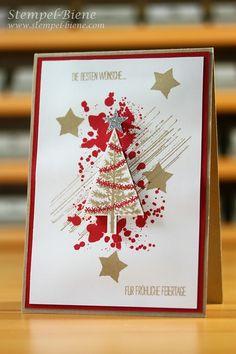 Stempel-Biene: Weihnachtskarte