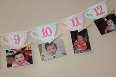 Tea Party First Year Banner by littleshoppeofpaper on Etsy Tea Party Birthday, Baby Party, First Birthday Parties, Birthday Party Themes, Birthday Ideas, Country Birthday, Fairy Tea Parties, Christening Party, Alice In Wonderland Birthday