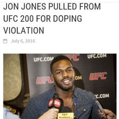 A very well known #MMA fighter told me about #jonjones drug problem over 5 years ago. It's truly a shame to see such an #athlete like this act so unprofessionally and lie to his family media and fans. The #ufc built #ufc200 around him and he acted like a baby no excuses in 2 years when his ban is up. #crossfit #bodybuilding #workout #diet