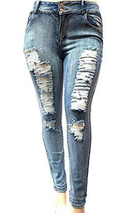 Women's plus sizes, Blue skinnies and Denim jeans on Pinterest