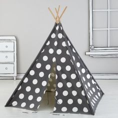 A Teepee to Call Your Own (Grey and White Dot)  | The Land of Nod..absolutely in LOVE with this teepee, ordering one asap!