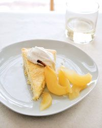 Buttermilk Cake with Riesling-Poached Pears Recipe from Food & Wine