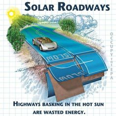 Solar roadways could be next! Why not convert it into energy- the sun beats down on the roads all day!