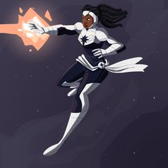 """calvinloveinternet: """" Monica Rambeau aka Captain Marvel Redesigned another A-Force member! It's Monica, the REAL Captain Marvel! I combined her design with Carol's current design! Marvel Comic Universe, Comics Universe, Marvel Art, Marvel Cinematic Universe, Marvel Comics, Captain Marvel, Female Superheroes And Villains, African Mythology, Black Comics"""