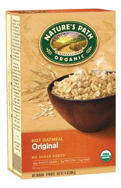 Nature's Path Organic Instant Hot Oatmeal Pouch Original, 14-Ounce Box (Pack of 6) - http://goodvibeorganics.com/natures-path-organic-instant-hot-oatmeal-pouch-original-14-ounce-box-pack-of-6/