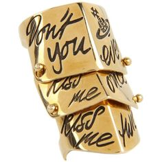 Vivienne Westwood Kiss Me Twice Armour Ring ($295) ❤ liked on Polyvore