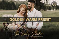 Golden Warm Wedding Lightroom PReset by EstellaPhoto on @creativemarket